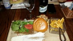 Hamburger tallriken.