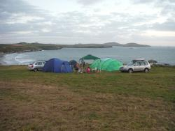 Looking towards Ramsey Island from near the top of the campsite