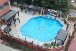 View from the suite, the pool
