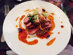 Asian inspired duck breast