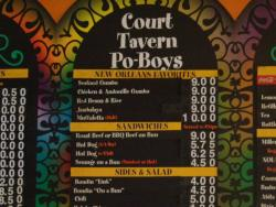 Court Tavern Po-Boys