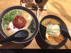 Yum yum! The soup is thicker than other Ramen I had before but still very tasty. Defiantly recom