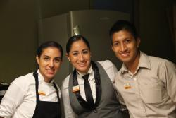 Chef Angelica, Fernanda our butler and Expo our waiter