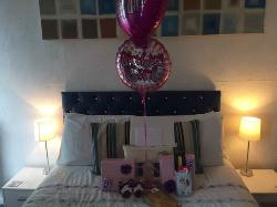 Beautiful birthday room all ready for me!