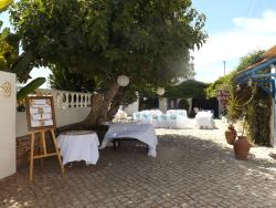 The Courtyard area on our wedding day