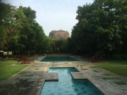 Pool area - view of Sigiriya Rock