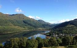 Arrochar and the Arrochar Alps! View of the village from one of the local walks.