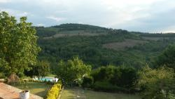 View from Podere Felceto over the valley