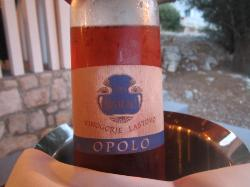 Vin local de Lastovo même: très bon!