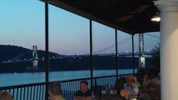 View from our table at Shadows on the Hudson