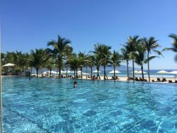 View of the beach from the club pool