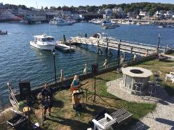 Labor Day Harbor Fest, we were treated to music just below our balcony for a few hours - super f