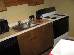 The kitchenette is a very nice touch to have
