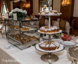 Breakfast Room at the Aldrovandi Villa Borghese
