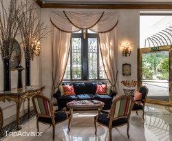 Lobby at the Aldrovandi Villa Borghese