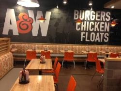 A & W Burgers Chicken Floats