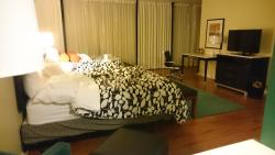 wheelchair accesible room: bed area