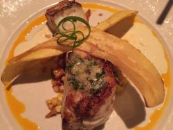 Wood grilled red grouper