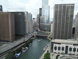 View South From Room 3309; Bridge is Michigan Av.