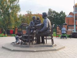 Sculpture Tula Tea-Drinking