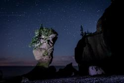 Night Photography Excursion at Hopewell Cape Rocks
