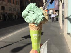 mint chocolate and pistachio