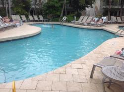 Most of the Suites face the pool