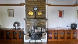 Fireplace at the Silver Oak restaurant