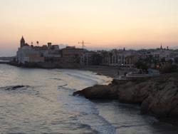 Vista de Sitges desde su terraza.