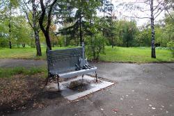 Monument to the Leader of Band Korol i Shut Mikhail Gorshenev