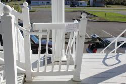 """collapsed hand rail left in place with a mickey mouse paper sign saying """"please dont use"""" DUH,"""
