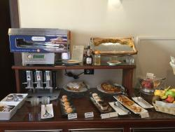 A portion of the breakfast buffet