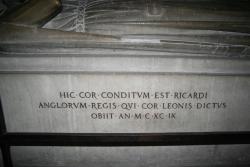 """""""Das Herz des Löwen"""" befindet sich in diesem Sarkophag"""