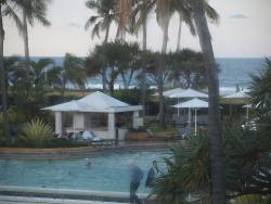 view of the pool from Pearl Bar