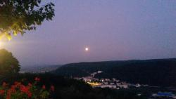 View from the terrace-the moon