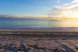 Vista de la playa, 6:30 AM