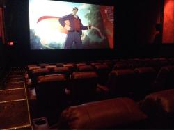 More pics of this beautifully renovated theater. Recliners, hot food and a full service bar.