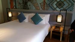 Super king size bed at the Manathia Hotel
