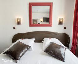 The Double Room with Terrace at the Hotel Aida Marais