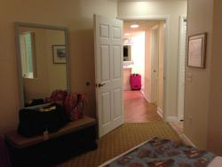 OKW from bedroom toward entry can see extra bathroom entry on right