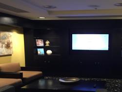 The executive lounge.