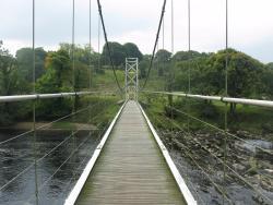 Suspension bridge over the Ribble