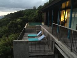A view from the gazebo for the Hilltop Villa from and the infinity pool side.