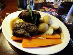 Beef Olives stuffed with haggis