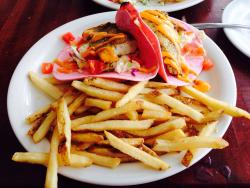 The Greek shrimp nachos and the grilled Mahi tacos were awesome!!! This place is a must if you'r