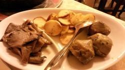 Vontorno tris di funghi, patate e carciofi