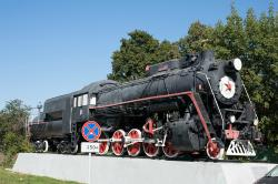 Monument to L-0012 Type Steam Locomotive