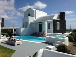 View of Villa from Caldera