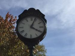 Zionsville clock located on the main street