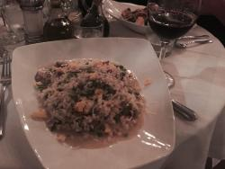 Italian wine and the house risotto. Great combination!